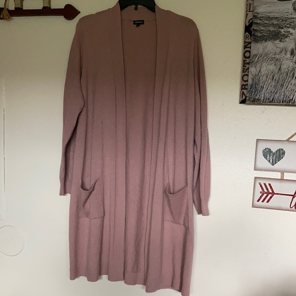 Torrid Size 2 X blush colored sweater duster